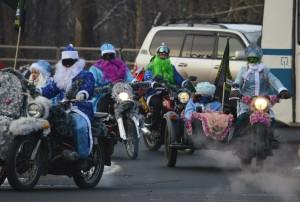 Любой желающий может принять участие в мотопробеге Дедов Морозов и Снегурочек по Самаре