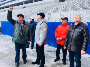 Дмитрий Азаров последний день уходящего года начал с посещения стадиона